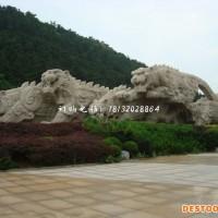 机械老虎雕塑公园动物石雕