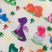 福建厂家 印花水刺布 恐龙图案儿童水刺布 可定制图案